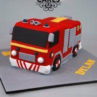 Feuerwehrmann Sam Fire Engine Cake Kuchen von Kristy How Fireman Party, Firefighter Birthday, Fireman Sam Cake, Fireman Sam Birthday Cake, Fireman Cupcakes, Birthday Cakes, Fire Engine Cake, Fire Fighter Cake, Fourth Birthday