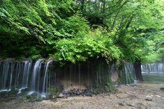 Karuizawa Shiraito Falls  Amazing waterfall, Shiraito Falls, in Karuizawa, a few hours out from Tokyo. Gotta see it in the early summer when...