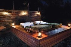 """The Blue Mountains private safari company calls it """"Wild Bush Luxury"""" because visitors are surrounded only by the Australian outback but still enjoy the comforts of home, including a posh version of the traditional pioneer bedding, a """"swag."""""""