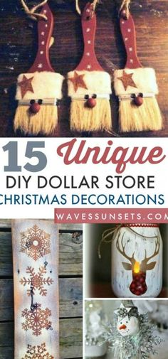 Cute #DIY Christmas decorations with supplies from the dollar store. Kids Crafts, Christmas Crafts For Kids, Holiday Crafts, Decor Crafts, Kids Diy, Diy Christmas Projects, Christmas Crafts To Sell Bazaars, Christmas Ideas For Her, Diy Christmas Crafts To Sell