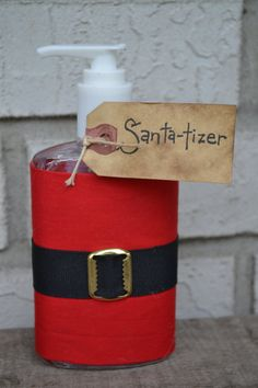 Santatizer Hand Sanitizer by YallComeBackDecor on Etsy, $5.50