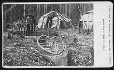 The Ojibwe and Dakota were semi-nomadic people, they moved from camp to camp looking for food. In the early spring they would move to their sugar bush camps to make maple sugar. Throughout the summer they would be gathered into larger fish camps. When the wild rice was ready to harvest in the fall they would gather in ricing camps. During the winter when game for hunting was scarce, they would separate into smaller family units and eat stored food.