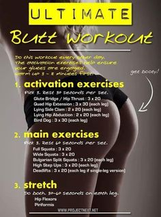 Booty workout.