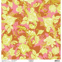 Hope Chest Pink Flourish 12x12 Double-sided Cardstock - Papers - Paper Crafts