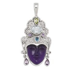 Silver by Sajen Multi-Gemstone Goddess Sterling Silver Pendant - I actually have this beautiful pendant