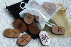 13 Witches Cedar Runes - Click on pic for vendor
