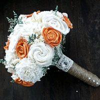 bouquet alternatives for bridesmaids | ... Ivory Bridal Bridesmaid Bouquet, Sola flower bouquet, Keepsake Bouquet