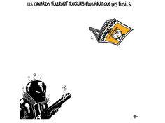 Hommage à Charlie Hebdo - Boulet, auteur de bande dessinée français