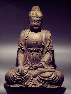 Ming Lacquered Wood Sculpture of a Seated Buddha