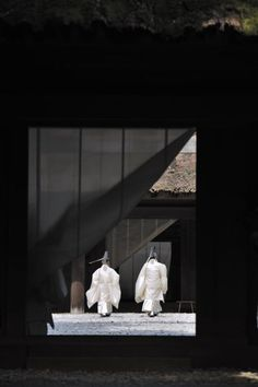 Shinto shrine priests,Japan
