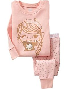 Camera-Girl PJ Sets for Baby | Old Navy