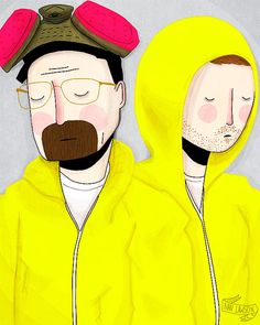 REMEMBER MY NAME - BREAKING BAD BY NAN LAWSON  #BREAKINGBAD #PRINT #ETSY #ART #YELLOW