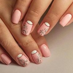 Rose nails with white and silver glitter accents Popular Ladies Beautiful Nail Art, Gorgeous Nails, Pretty Nails, Pink Gold Nails, Rose Nails, Nail Art Designs, Pretty Nail Designs, Crazy Nails, Fancy Nails