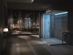 XXL LIGHT steam shower by Teuco with Bluetooth & Colour-Therapy.