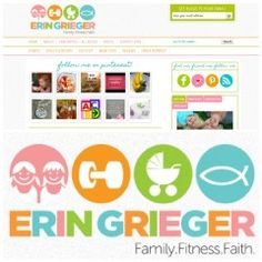 Beachbody Coach Website Designer - ErinGrieger.com - @ErinGreiger - She's a mom, a fitness coach and her faith fuels her passion. great design, branding and logo! Check out her fitness blog.