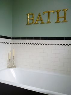 original 1930s bathroom wish we had half tiled walls to add the colour