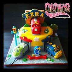 Some people ask for #chuggington theme, found this in the old piles #throwback from 3 years ago... #Birthdaycake #customcake #customcakejakarta #partyfavour #kueulangtahunjakarta #jajanjakarta #delicious #sweettable #fondant3D #caketopper #sugarart #olanoscakes #olanos #jakarta #yummy #amazing #instafood #sweet #cake #olshopcake #jktfoodies #disney