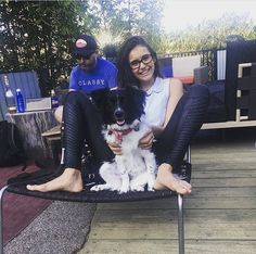Nina Dobrev & her dog, Maverick ❤️ August 2017