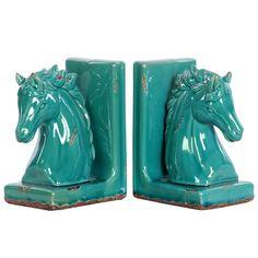 Urban Trends Stoneware Horse Bookend