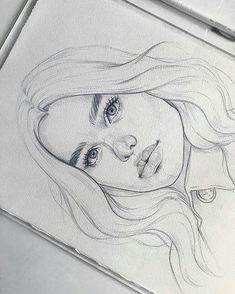 Art Sketches Ideas - Sketch 🖊 ______________________________________________ Paper Canson Moulin d. Cool Art Drawings, Pencil Art Drawings, Art Drawings Sketches, Realistic Drawings, Drawing Drawing, Drawing Faces, Drawing Ideas, Portrait Sketches, Pencil Portrait