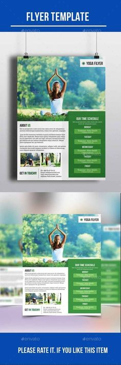 Yoga Flyer — Photoshop PSD #flyer #magazine • Available here → https://graphicriver.net/item/yoga-flyer/10236306?ref=pxcr
