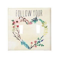 Follow Your Heart Dual Switch Plate