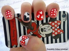 95 Decorated nail designs for easy and pretty girls - Womenform. Love Nails, How To Do Nails, Pretty Nails, Fun Nails, Elephant Nails, Kathy Nails, Unicorn Nail Art, Nail Art For Kids, Disney Nails