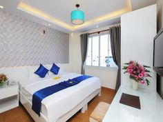 Ho Chi Minh City Blue River Hotel Vietnam, Asia Ideally located in the prime touristic area of District 1, Blue River Hotel promises a relaxing and wonderful visit. The hotel offers guests a range of services and amenities designed to provide comfort and convenience. Free Wi-Fi in all rooms, 24-hour front desk, luggage storage, Wi-Fi in public areas, car park are just some of the facilities on offer. Guestrooms are fitted with all the amenities you need for a good night's slee...