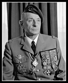 """Marcel """"Bruno"""" Bigeard (1916-2010) was one of the most decorated soldiers in France; he rose from enlisted man Second Class, the lowest possible rank, in 1936 and finished his career in 1976 with the rank of LT General (Airborne).He fought in WW2, Indochina, and Algeria. He was particularly controversial for his defense of the use of torture in counter-insurgency operations in the Algerian War."""