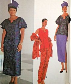 00baa24d1 UC Simplicity 5770 Pattern Hat Dress Skirt Pants Shawl Sleeveless Tunic  10-18