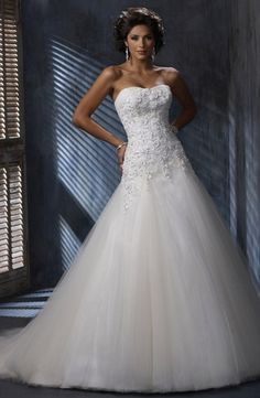 Maggie Sottero - Strapless Fit and Flare in Beaded Embroidery
