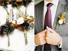 rustic groom boutonniere
