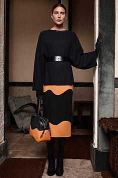 И строго, и ярко. Модная юбка карандаш 2015 – фото новинка Agnona.