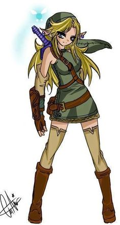 Ok... The idea of a female version of Link is MIGHTY SEXY!!!!!!! If, and this is a big if, I find someone who is sexier than this, I will tackle her and never let her go because I appreciate the miracles that God sends my way.