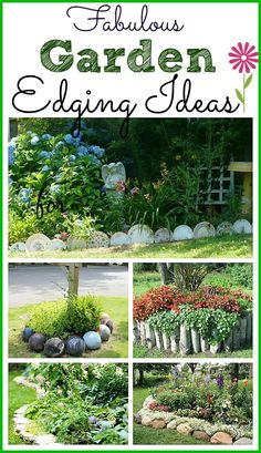 Cool ideas! Not your usual ways to edge a garden bed | Garden Bed Edging Ideas