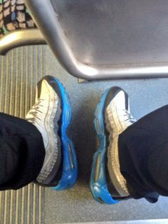 "From twitter user @MikeyMikeFly ""What a coincidence that I wore these on #AIRMAXDAY2014.  Enjoying my day via @KCATA The Metro. #SneakerFreaker #KCstory pic.twitter.com/ee6tRqkNEq"""