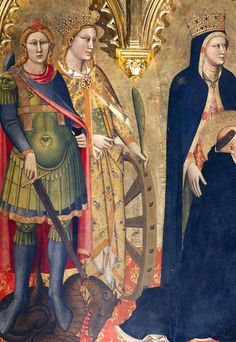 Fragment from the Strozzi Altarpiece by Andrea di Cione Orcagna,1354
