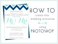 Tutorial make your own invites with photoshop elements free how to make this wedding invitation in photoshop stopboris Image collections