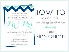 How-To: Make this Wedding Invitation in Photoshop — Dinosaur Stew