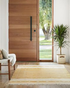Urban Industrial Decor Tips From The Pros Have you been thinking about making changes to your home? Modern Entrance Door, Modern Front Door, Wood Front Doors, House Front Door, House Doors, House Entrance, Front Door Entry, Modern Exterior Doors, Entrance Doors