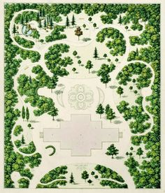 Design for a garden, Rudolph Siebeck (1812-1878), The antiquarium