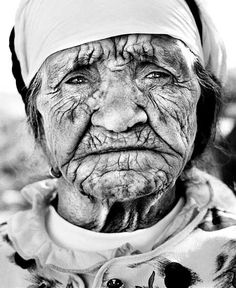 A truly amazing face. Imagine the history in each one of those lines...