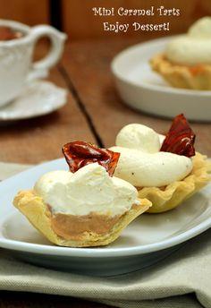Caramel Tart, Cake Factory, Romanian Food, Mini, Biscuits, Deserts, Snacks, Breakfast, Sweet