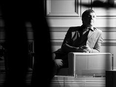 Christoph Waltz behind the scenes for the Prada Fall/Winter 2013 Menswear campaign
