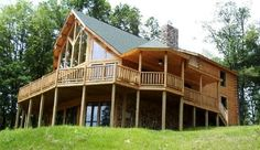 1500+ sq. ft. cedar log home with cathedral ceiling and loft
