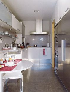 Mesa Para Cocina Estrecha | Mesa De Cocina Estrecha De 25 Cms En Color Reformas Guaita