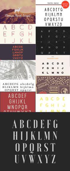 12 cool new free fonts.  #free #fonts