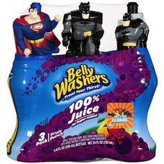 Belly Washers Fruit Punch 100% Juice, 3pk