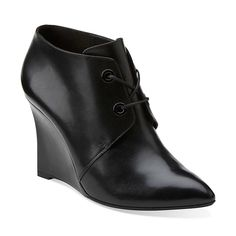 Kelbrook Azizi in Black Leather - Womens Boots from Clarks