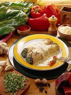 Comida Portuguesa :Niños Envueltos de cerdo  receta Más abajo Salsa Portuguesa